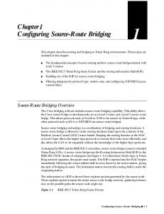Chapter1 Configuring Source-Route Bridging