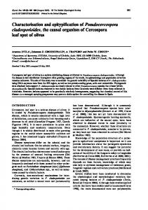 Characterisation and epitypification of