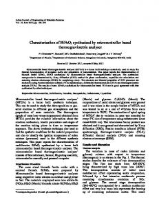 Characterisation of BiFeO3 synthesised by microcontroller ... - NOPR