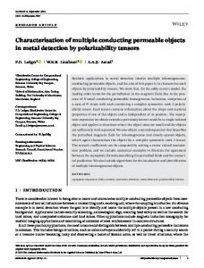 Characterisation of multiple conducting ... - Wiley Online Library