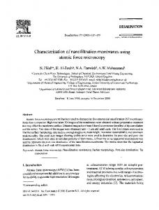 Characterisation of nanofiltration membranes using ... - Science Direct