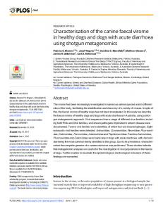 Characterisation of the canine faecal virome in healthy dogs ... - PLOS