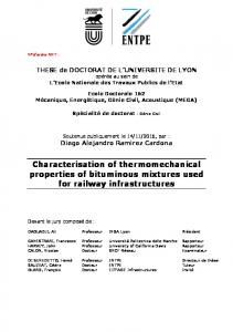 Characterisation of thermomechanical properties of
