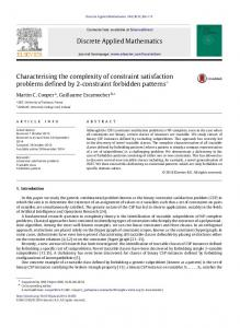 Characterising the complexity of constraint satisfaction problems