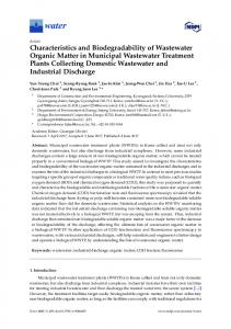 Characteristics and Biodegradability of Wastewater Organic ... - MDPI