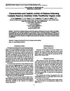 Characteristics and Catalytic Activity of Platinum ... - Springer Link