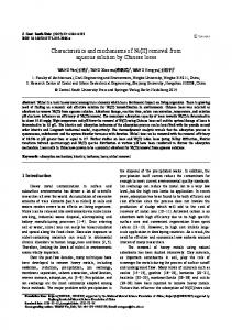Characteristics and mechanisms of Ni (II) removal from aqueous ...