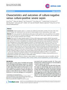 Characteristics and outcomes of culture-negative ... - BioMedSearch