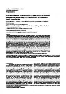 Characteristics and provenance implication of detrital minerals since ...