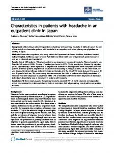 Characteristics in patients with headache in an ... - Springer Link