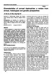 Characteristics of corneal dystrophies: a review