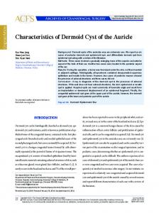 Characteristics of Dermoid Cyst of the Auricle