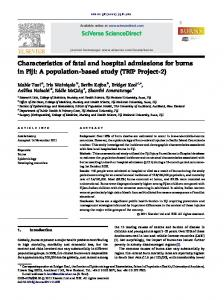 Characteristics of fatal and hospital admissions for