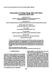 Characteristics of Hydrogen Storage Alloy p-GaN Ohmic ... - CiteSeerX