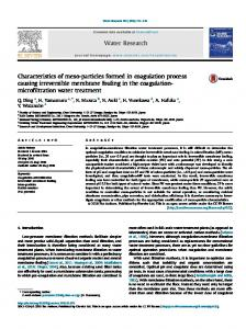 Characteristics of meso-particles formed in coagulation process ... - Core