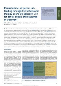 Characteristics of patients attending for cognitive behavioural ... - Nature
