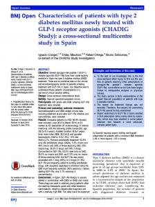 Characteristics of patients with type 2 diabetes mellitus newly treated ...