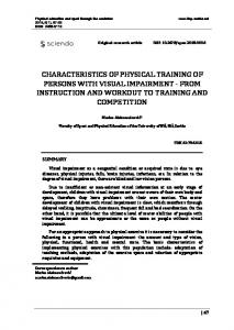 characteristics of physical training of persons with