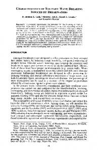 CHARACTERISTICS OF SOLITARY WAVE BREAKING INDUCED BY ...
