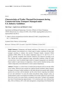 Characteristics of Trailer Thermal Environment during ... - MDPI