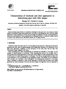 Characteristics of trochoids and their application to