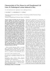 Characteristics of Two Mouse bcr-abl-Transformed Cell Lines. II ...