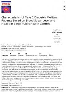 Characteristics of Type 2 Diabetes Mellitus Patients Based on Blood ...