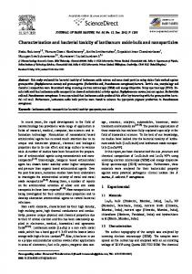 Characterization and bacterial toxicity of lanthanum oxide bulk and ...