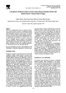 characterization and cod fractionation of domestic ... - ScienceDirect.com