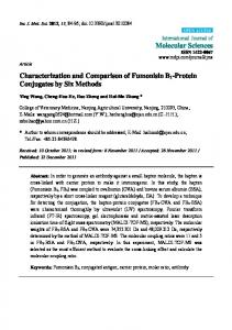 Characterization and Comparison of Fumonisin B1 ... - CiteSeerX