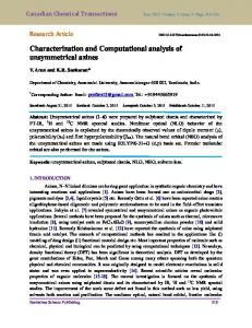 Characterization and Computational analysis of unsymmetrical azines