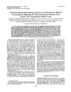 Characterization and Genetic Analysis of Alternatively Spliced