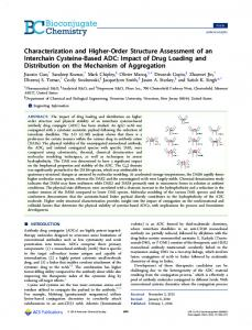 Characterization and Higher-Order Structure ... - ACS Publications
