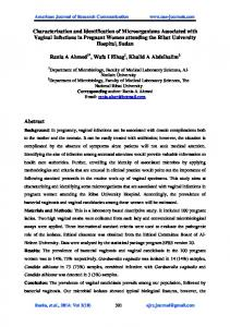 Characterization and Identification of Microorganisms Associated with ...