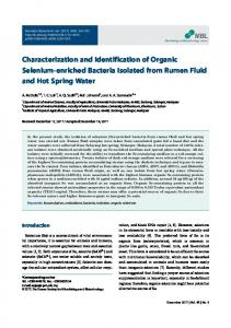 Characterization and Identification of Organic