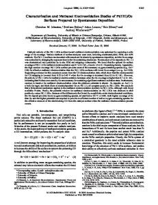 Characterization and Methanol Electrooxidation Studies of Pt (111)/Os ...