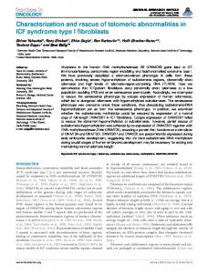 Characterization and rescue of telomeric ... - BioMedSearch