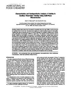 Characterization and Semiquantitative Analysis of ... - ACS Publications