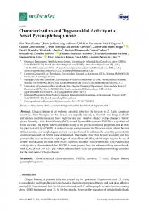 Characterization and Trypanocidal Activity of a Novel ... - MDPI