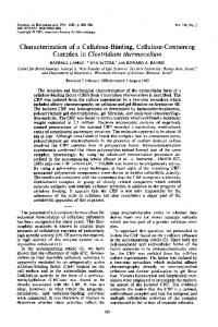 Characterization of a cellulose-binding, cellulase-containing complex ...