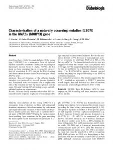Characterization of a naturally occurring mutation (L107I) in the ...