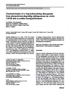 Characterization of a ring-hydroxylating dioxygenase from ...