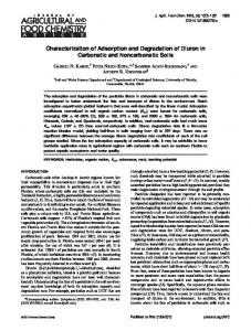 Characterization of Adsorption and Degradation of Diuron in ... - ufl