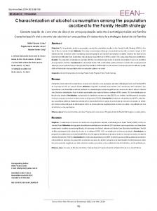 Characterization of alcohol consumption among the ... - SciELO