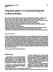 Characterization of Amyloid-ß Deposits in Bovine Brains - IOS Press