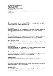 Characterization of an artisanal fishery in Argentina using the social ...