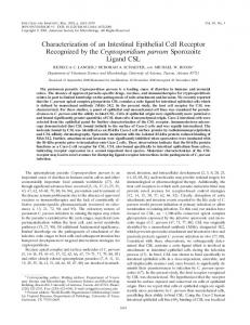 Characterization of an Intestinal Epithelial Cell Receptor Recognized ...