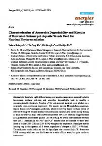 Characterization of Anaerobic Degradability and ... - Semantic Scholar