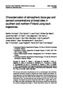 Characterization of atmospheric trace gas and aerosol concentrations ...