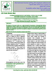 characterization of captopril-ethyl cellulose microspheres by thermal ...